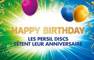 Persil DISCS 4 en 1 fête son anniversaire!