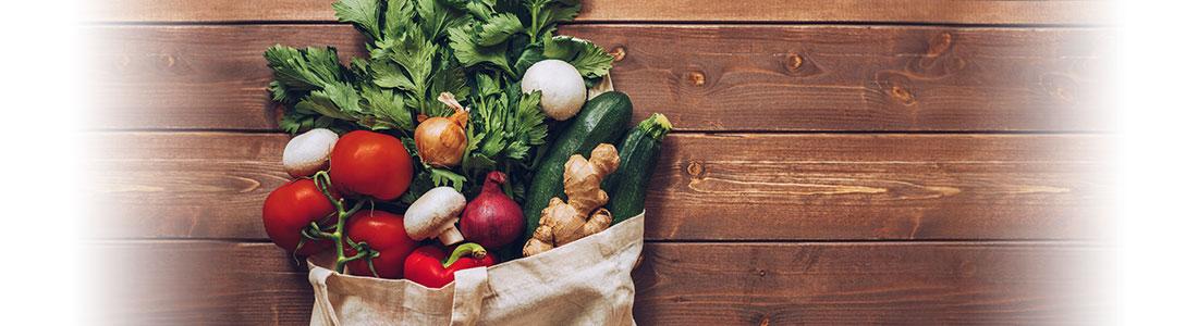 Einkaufstasche mit Lebensmitteln