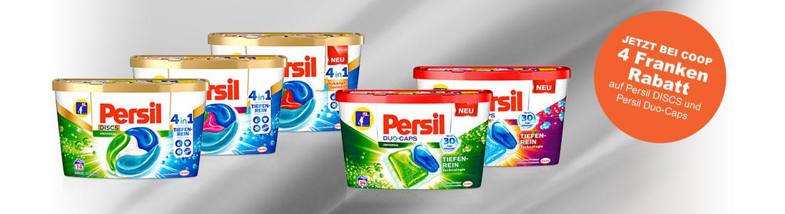 Persil DISCS und Caps Produktabbildungen