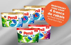 4 francs de remise sur Persil DISCS et Persil Duo-Caps chez Coop!