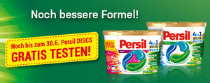Jetzt noch bis zum 30.06. Persil DISCS gratis testen!