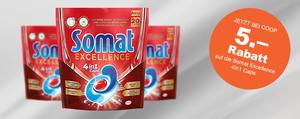 Jetzt 5 Franken Rabatt auf die neuen Somat Caps sichern