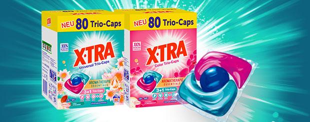 Jetzt neu: X-TRA Trio-Caps 3+1